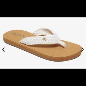 Roxy Tidepool 2 Natural White Braid Flip Flop